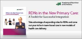 RDNs in the New Primary Care: A Toolkit for Successful Integration