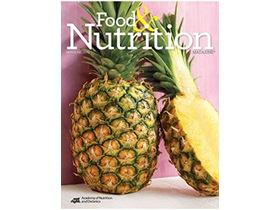 Food and Nutrition Magazine Cover