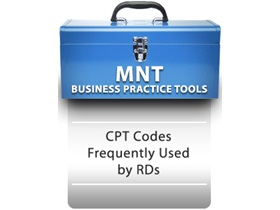 CPT Codes Frequently Used by RDs