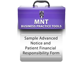 Sample Advanced Notice and Patient Financial Responsibility Form