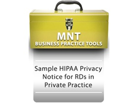 Sample HIPAA Privacy Notice for RDNs