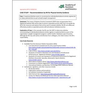 Case Study Recommended Physical Activity Cover