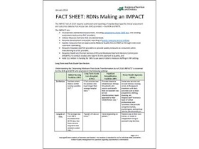 Fact Sheet: RDNs Making an IMPACT