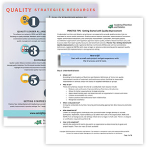 Practice Tips: Getting Started with Quality Improvement