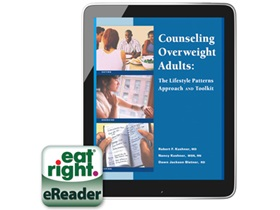 The cover for the eBook version of Counseling Overweight Adults