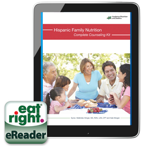 The eBook cover of Hispanic Family Nutrition Complete Counseling Kit