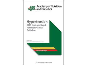 Hypertension: Evidence-Based Nutrition Practice Guidelines Quick Reference Tool