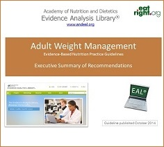 Adult Weight Management Evidence-Based Nutrition Practice Guideline