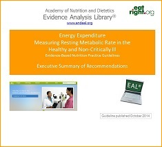 Energy Expenditure: Measuring RMR in the Healthy and Non-Critically Ill Guideline Presentation