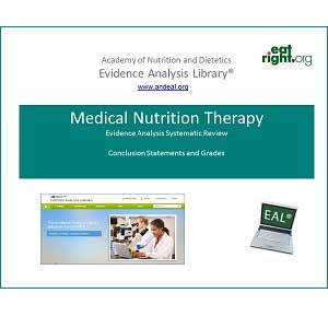 Medical Nutrition Therapy Evidence Based Nutrition Practice Project