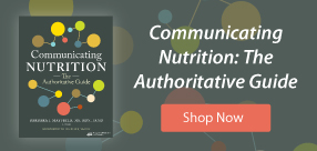 Communicating Nutrition: The Authoritative Guide Cover and Shop Now Button