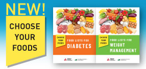 New Choose Your Food Titles: Food Lists for Diabeets and Food Lists for Weight Management